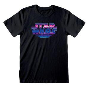 Star Wars Unisex Voksen 80-tallet Logo T-skjorte Svart XL