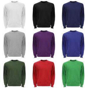 Fruit of the Loom Frukten av veven Mens Raglan ermet Belcoro® Sweatshirt Lyng grå XL