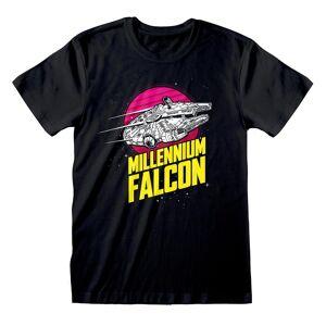Star Wars Unisex Voksen Millennium Falcon T-skjorte Svart XXL