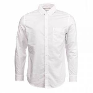 Joules Joule joule langermet klassisk passform hvitvaskede Oxford skjorte (Z) Hvit Xxl