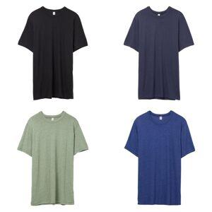 Alternative Apparel Alternative klær Mens Vintage 50/50 t-skjorte Vintage marinen XS