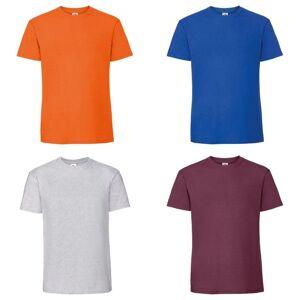Fruit of the Loom Frukten av veven Mens ringspunnet Premium t-skjorte Ash M