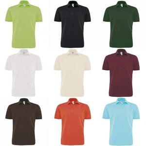 B&C B & C Mens Heavymill kort erme Cotton Polo skjorte Marinen 3XL