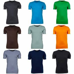 Tee Jays Mens Interlock kort erme t-skjorte Svart 2XL