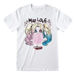 Batman Unisex Voksen Mad Love Harley Quinn T-skjorte Hvit S