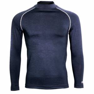 Rhino Neshorn Mens lang ermet Baselayer topp Navy Heather 2XL