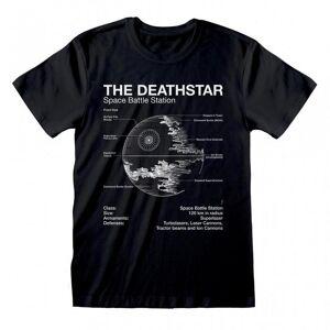 Star Wars Unisex Voksen Død Stjerne T-skjorte Svart XL