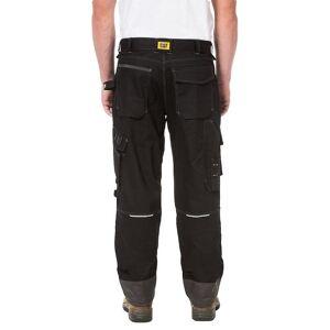 Caterpillar Mens H2O Defender vanntett Workwear bukser Svart grafitt 36R