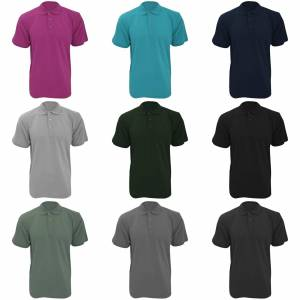 Kustom Kit Kustom orientert Kit Workwear Mens kort ermet Polo skjorte Burgund 2XL