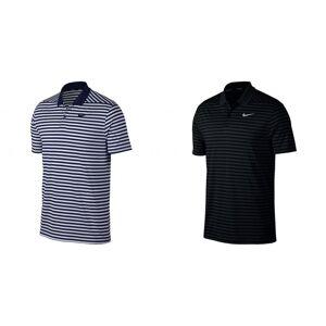 Nike Mens seier Polo Stripe skjorte Svart/antrasitt/Cool grå S