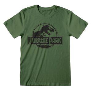 Jurassic Park Unisex Voksen Monokrom T-skjorte Grønn XL