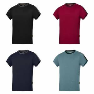 Snickers Mens AllroundWork kort erme t-skjorte Navy/stål grå XL