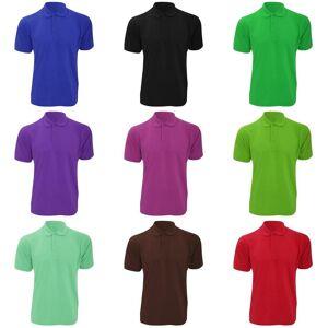 Kustom Kit Kustom orientert Kit Mens Klassic Superwash kort ermet Polo skjorte Trekull 2XL
