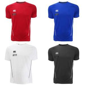 Canterbury Mens Team tørr fuktighet Wicking kort erme t-skjorte Hvit/svart M