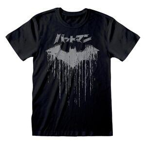 Batman Unisex Voksen Japansk Logo T-skjorte Svart S
