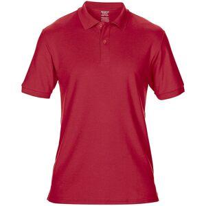 Gildan Mens DryBlend voksen Sport dobbel Pique Polo skjorte Rød 2XL