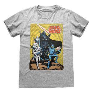 Star Wars Unisex Voksen Darth Vader T-skjorte Grå Heather S