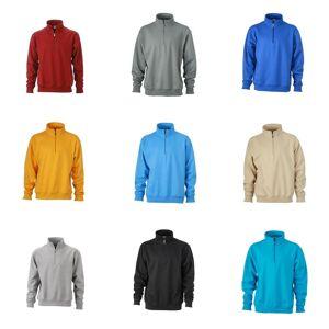 James Nicholson James og Nicholson Unisex Workwear halv Zip Sweatshirt Stein 4XL