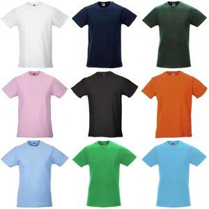 Russell Mens Slim kort erme t-skjorte Svart S