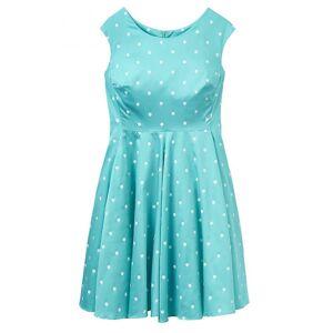 Joules Joule Amelie damer kjole (W) Ocean grønn Elsa Spot Uk14 Eu42 Us10