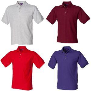 Henbury Mens Ultimate 65/35 Polo skjorte Klassisk rød 2XL