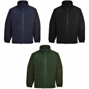 Portwest Mens Aran Full Fleece glidelås Svart 2XL