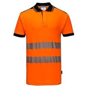 Portwest Mens PW3 Hi-Vis Polo skjorte Oransje/svart L