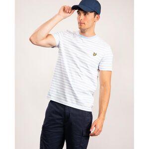 Scott Lyle & Scott Lyle & Scott Breton Stripe Mens t-skjorte Z840 Bassengblå/ Hvit S