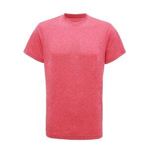 Tri Dri Mens kort erme lett Fitness t-skjorte Rosa Melange 2XL