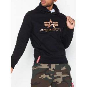 Alpha Industries Basic Hoody Gensere Svart/Gull
