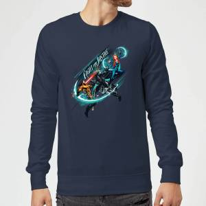Aquaman Fight for Justice Sweatshirt - Navy - XL - Navy
