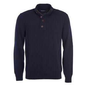 Barbour Men's Patch Half Button Sweater Blå