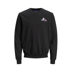 JACK & JONES Print Foran Og Bak Sweatshirt Men Black