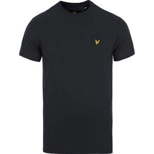 Scott Lyle & Scott Plain Crew Neck Cotton T-Shirt True Black