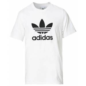 adidas Originals Trefoil Logo Crew Neck Tee White