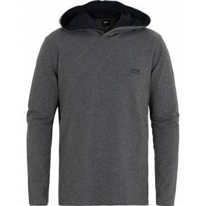 Boss Logo Hoodie Medium Grey