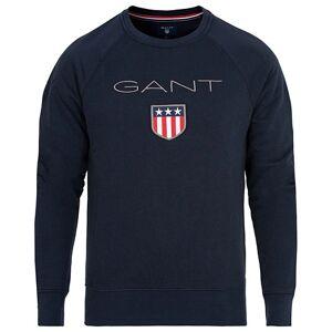 GANT Shield Crew Neck Sweatshirts Evening Blue
