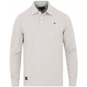 Morris Juan Long Sleeve Jersey Polo Grey Melange