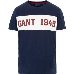 GANT Gant Block Stripe Tee Evening Blue