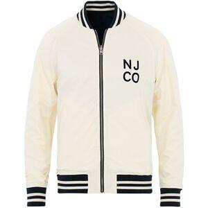 Nudie Jeans Mark Baseball Reversible Jacket White/Navy