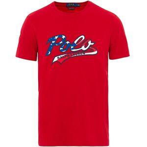 Polo Ralph Lauren USA Contrast Logo Crew Neck Tee Red