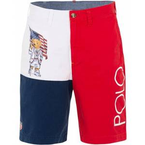 Polo Ralph Lauren Chairiots Of Fire Bear Shorts White Red