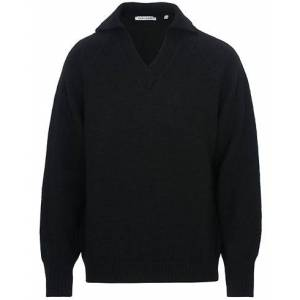 Our Legacy Big Knit Coarse Wool Sweater Black
