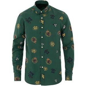 Morris Ivan Button Under Shirt Green