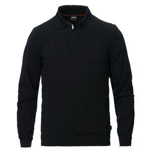 Boss Grayson Extra Fine Merino Knitted Poloshirt Black