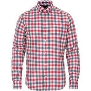 GANT Slim Fit Tech Prep Oxford Check Shirt Bright Red