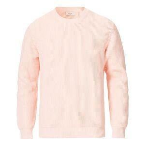 Altea Rib Stich Cotton Crew Neck Sweater Pink