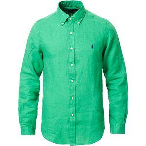Polo Ralph Lauren Slim Fit Linen Button Down Shirt Golf Green