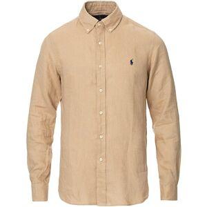 Polo Ralph Lauren Slim Fit Linen Button Down Shirt Coastal Beige