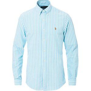 Polo Ralph Lauren Slim Fit Oxford Stripe Shirt Light Blue/White